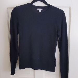 Gap Extra Fine Black Merino Wool Sweater